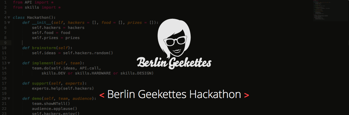 OpenTechSchool and the Berlin Geekettes Hackathon