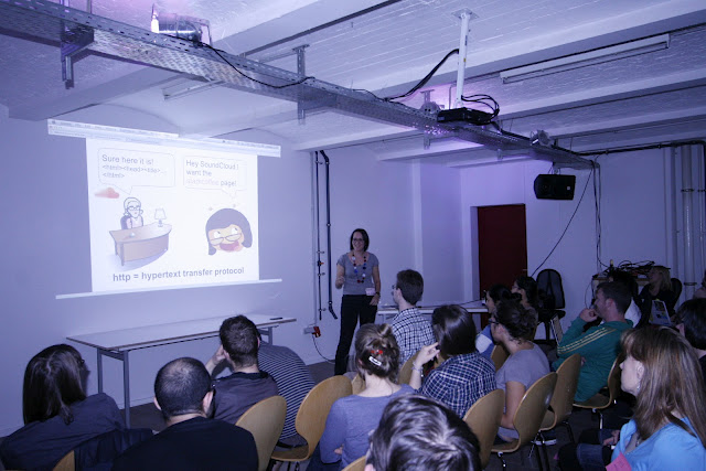 Duana at the first OTS Beginners Meetup